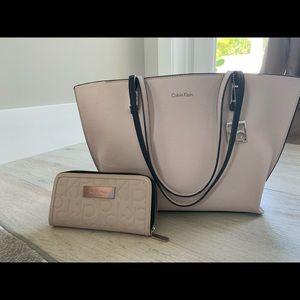 Calvin Klein bag and wallet